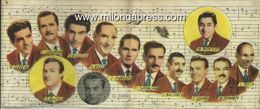 Pugliese tarjeta October 1957